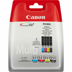 Canon 6509B009 (551) Ink cartridge multi pack, 4x7ml, Pack qty 4
