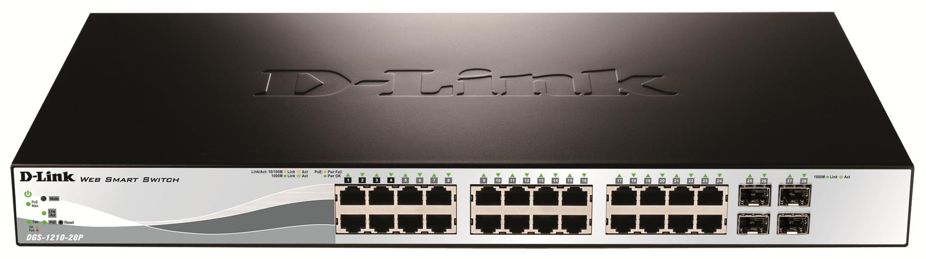 D-Link DGS-1210-28P switch Gestionado L2 1U Energía sobre Ethernet (PoE)