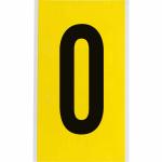 Brady 3470-O self-adhesive label Rectangle Permanent Black, Yellow 25 pc(s)