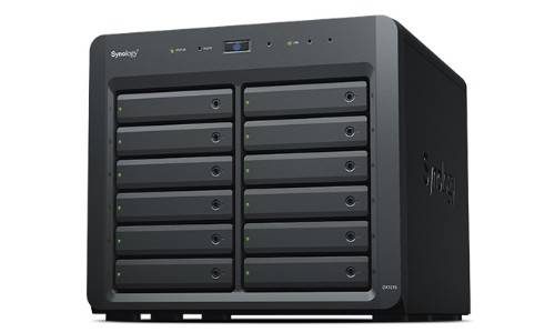Synology DX1215 disk array 72 TB Tower Black