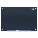 QUARTET INFINITY GLASS BOARD 450X600 BLACK