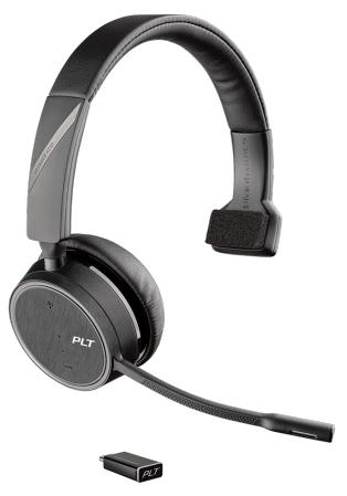 Plantronics Voyager 4210 UC mobile headset Monaural Head-band Black Wireless