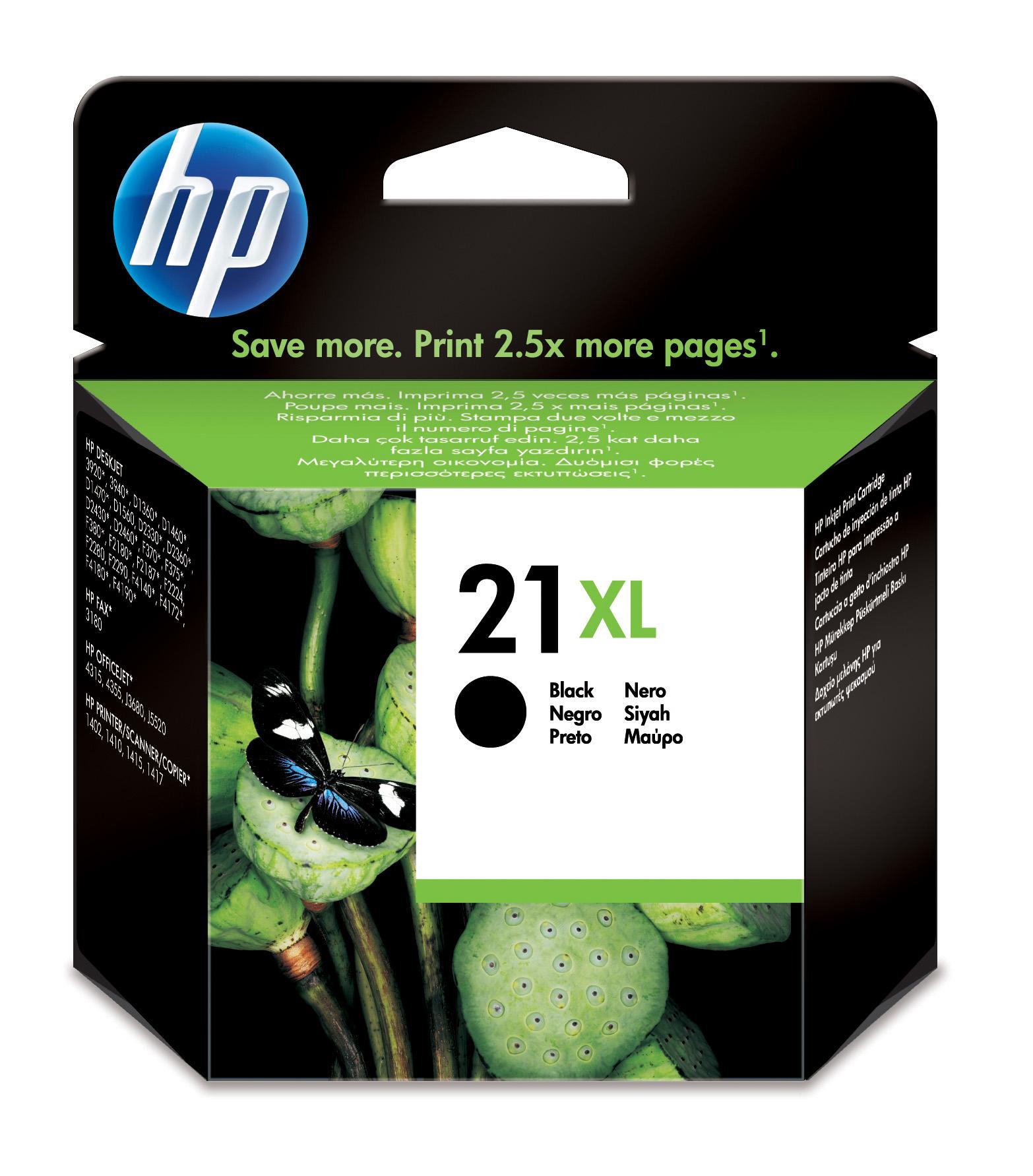 HP C9351CE#301 (21XL) Printhead black, 475 pages, 12ml
