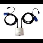 Dynamode 2-Port Pocket KVM + USB1.1 + Audio with Cables KVM switch
