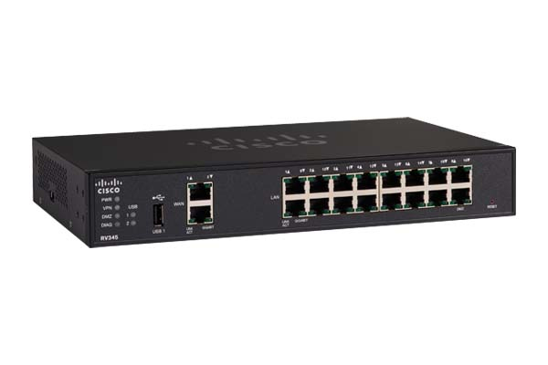 Cisco RV345 Ethernet LAN Black wired router