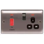 Nexus NBN70B Nickel socket-outlet