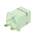 2-Power UKP0002A Type D (UK) White power plug adapter