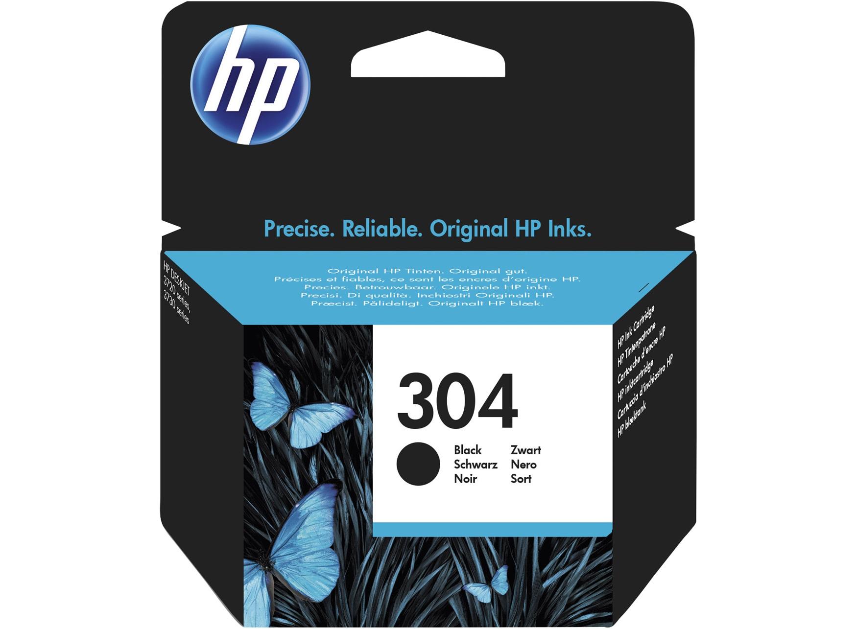 HP 304 Black Original Standard Capacity Negro
