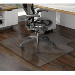 MARBIG TUFFMAT POLYCARBONATE CHAIRMAT HARD FLOOR KEYHOLE 900 X 1200MM CLEAR