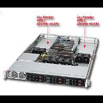 Supermicro 1026GT-TF Intel 5520 Socket B (LGA 1366) 1U Black