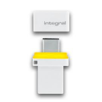 Integral FUSION 3.0 DUAL TYPE-C USB flash drive 64 GB USB Type-A / USB Type-C 3.2 Gen 1 (3.1 Gen 1) White,Black