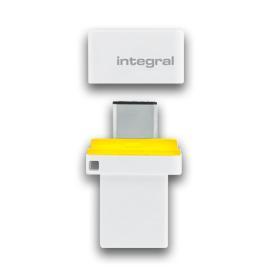 Integral FUSION 3.0 DUAL TYPE-C USB flash drive 64 GB USB Type-A / USB Type-C 3.2 Gen 1 (3.1 Gen 1) White,Black