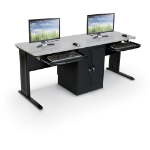 MooreCo 90107 computer desk Black,Grey