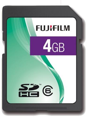 Fujifilm 4GB SDHC Class 6 memory card