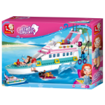 SLUBAN TOY SLUBAN GIRLS DREAM LUXURY BOAT 323 PCS ( EACH )