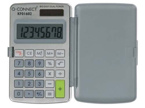 Q-CONNECT KF01602 calculator Pocket Basic Grey, White