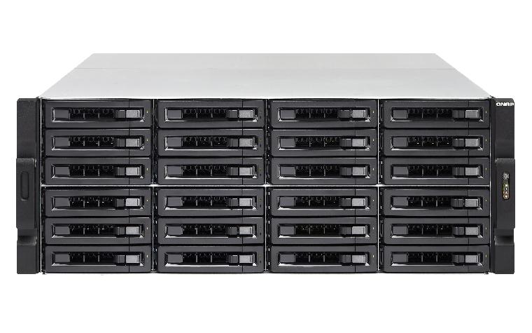QNAP TVS-EC2480U-SAS-RP-8GE-R2 NAS Rack (4U) Ethernet LAN Black, Grey
