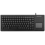 CHERRY XS Touchpad keyboard USB Italian Black