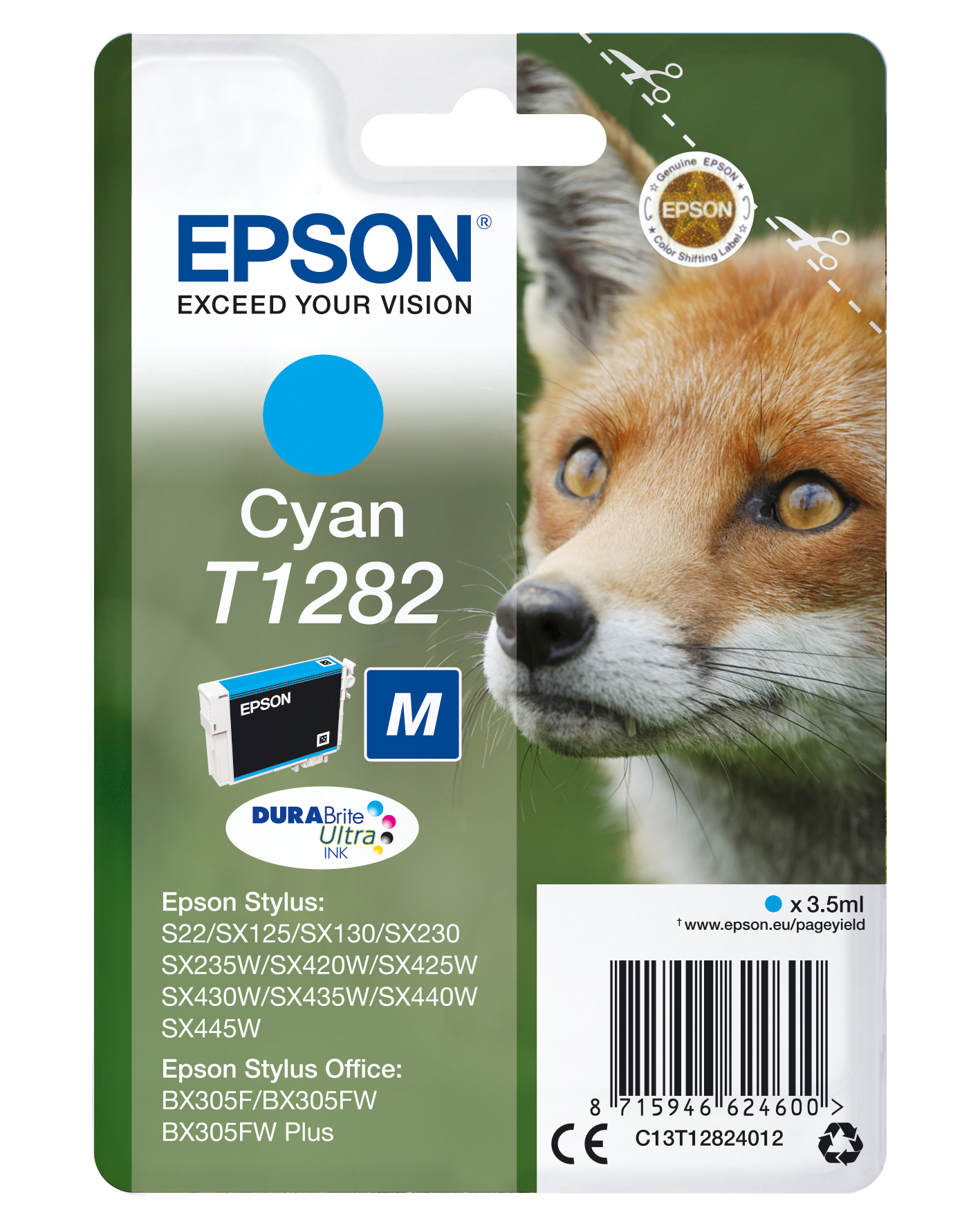 Epson Fox Cartucho T1282 cian
