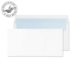 Blake Purely Everyday White Self Seal Wallet DL 110X220mm 90gsm (Pack 50)