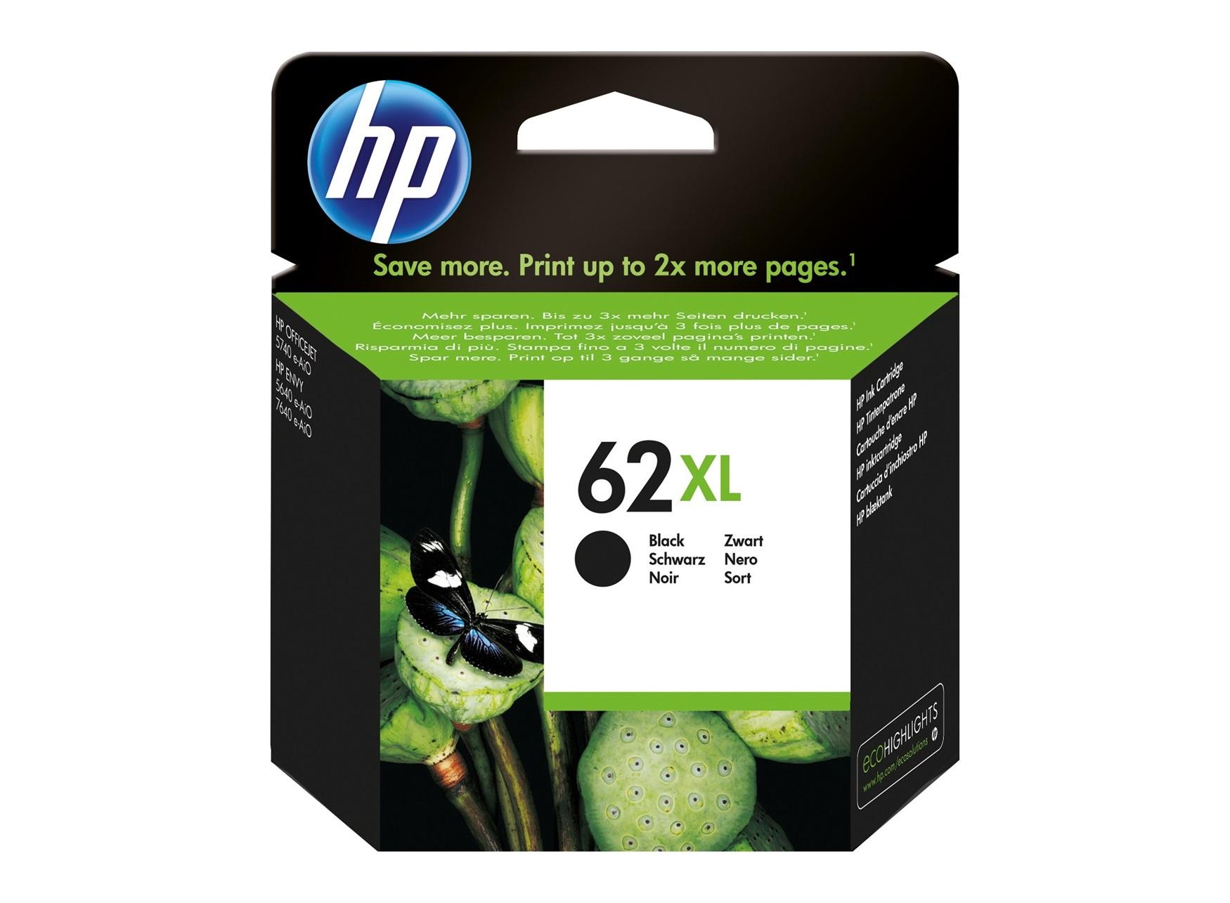 HP 62XL Black Ink Cartridge Origineel Zwart