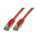 MCL FCC6ABM-5M/R cable de red Rojo