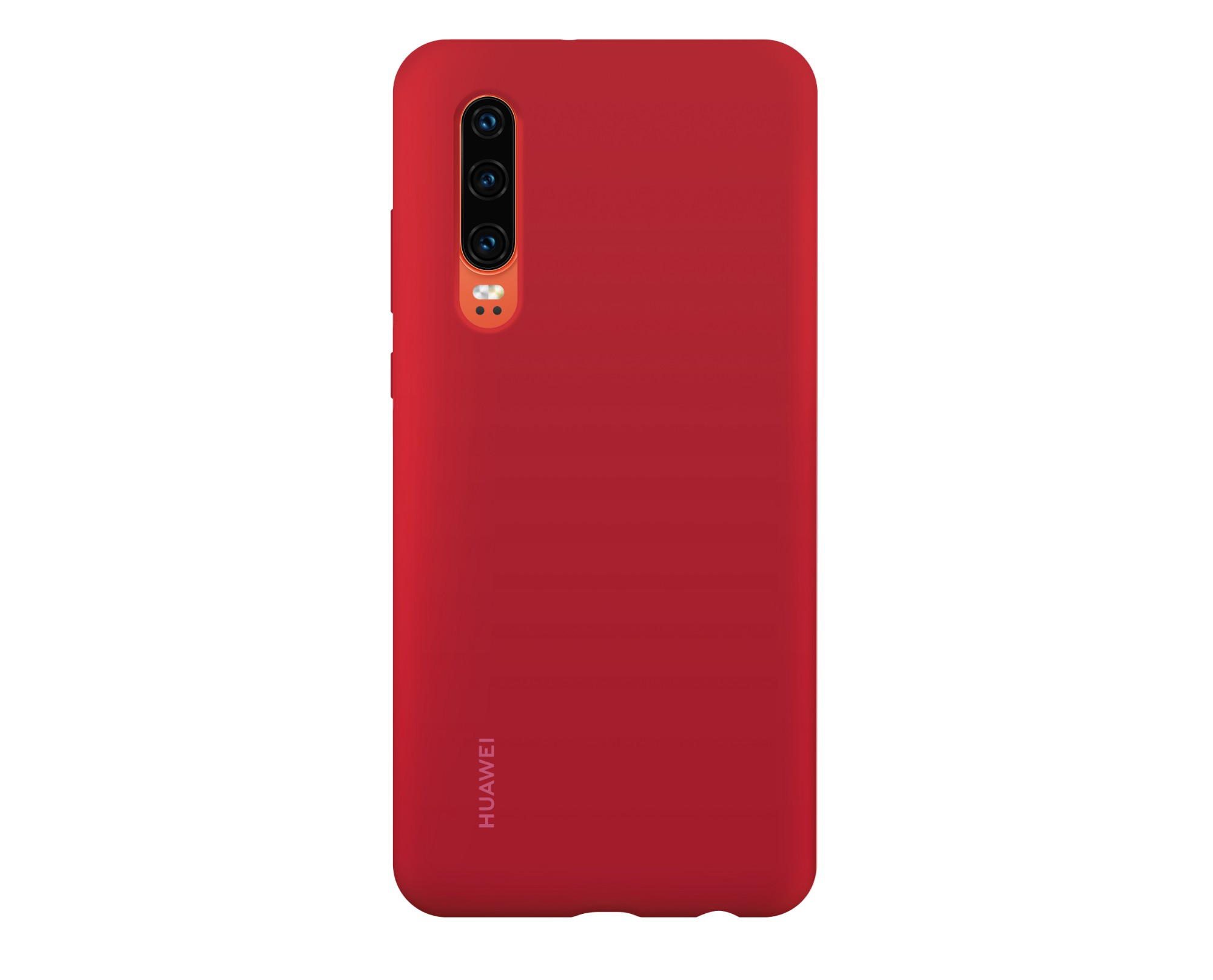 Huawei P30 Silicone Car Case Red