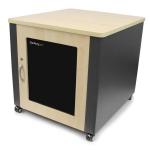 StarTech.com RKQMCAB12V2 rack cabinet 12U Freestanding rack Gray, Wood