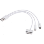 Astrotek USB 3 in 1 Data Charger Cable 60cm for iPhone Samsung USB to Micro B 9 pins 30 pins