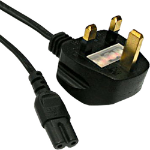 Cablenet 42 2594 2m Power plug type G C7 coupler Black power cable