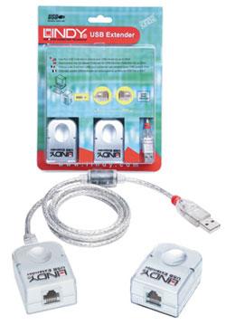 Lindy CAT5 USB Extender Premium USB A / RJ-45 White