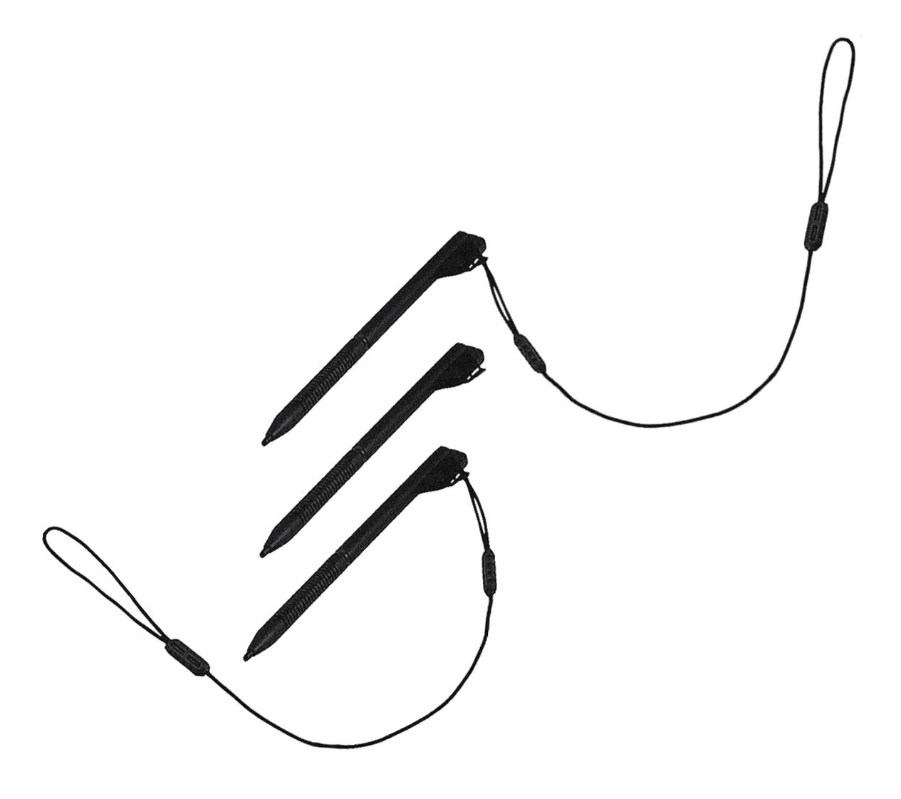 Dolphin 99EX/99GX styluskit w/ tethers - 3 pack