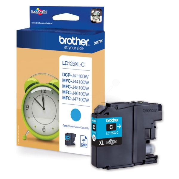 Brother LC-125XLC Ink cartridge cyan, 1.2K pages, 8ml
