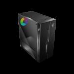 MSI MAG VAMPIRIC 010X Mid Tower Gaming 'Black, 1x 120mm ARGB Fan, Mystic Light Sync, ARGB Hub with Remote, Tempered Glass Panel, ATX, mATX, mini-ITX'