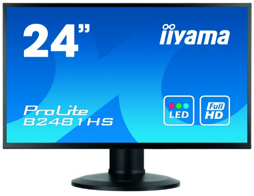 "iiyama ProLite XB2481HS-B1 23.6"" Full HD LED Matt Flat Black computer monitor LED display"