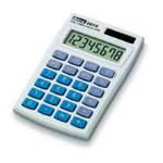 Ibico 081X Pocket Basic Blue, White calculator