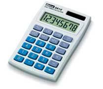 Ibico 081X calculator Pocket Basic Blue, White