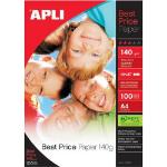 APLI 11804 A4 Gloss White photo paper
