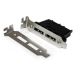 StarTech.com 2 Port Low Profile SATA to eSATA Plate Adapter - F/M