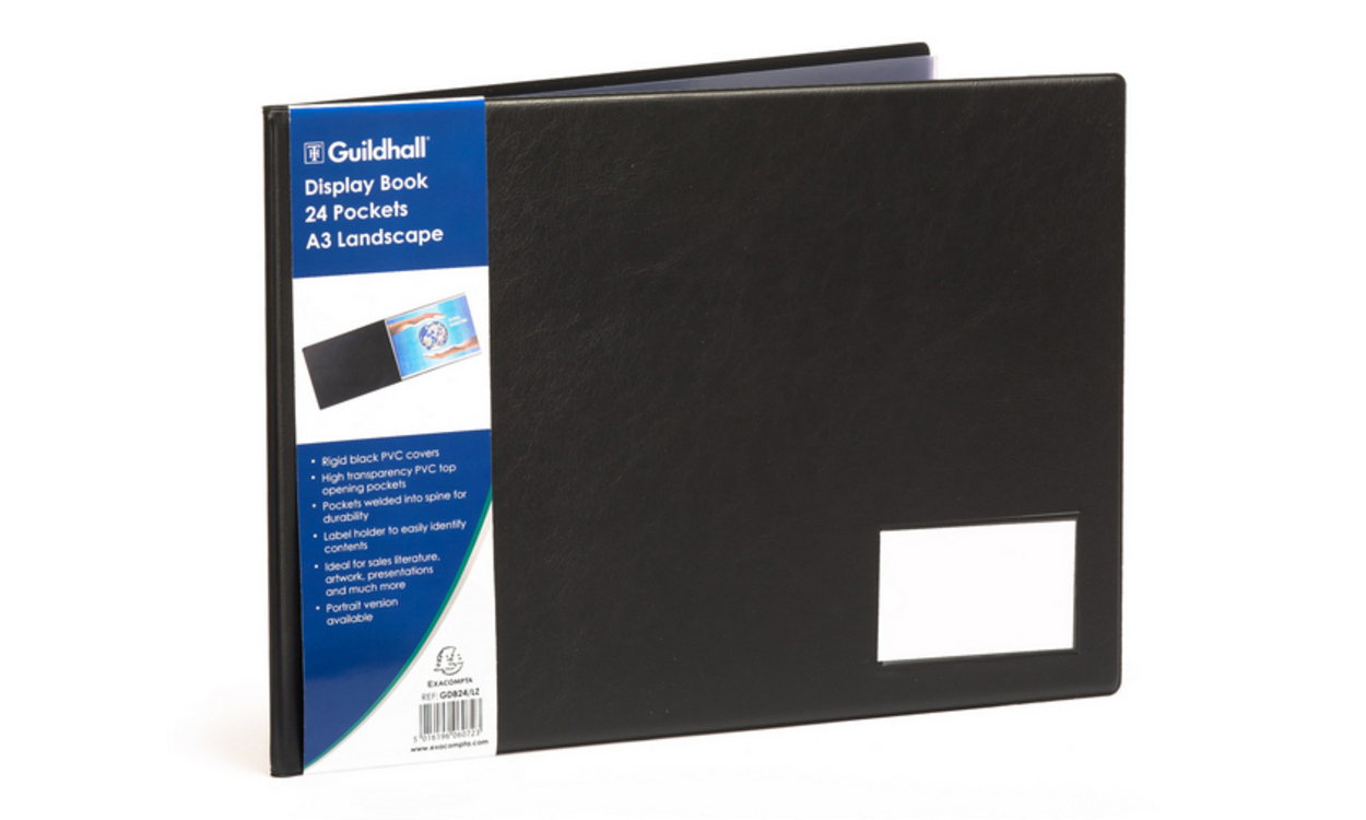 Gold Line Goldline A3 Display Book Landscape 24 Pockets
