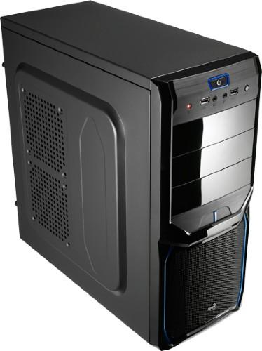 Aerocool V3X Evil Blue Edition Midi-Tower Black,Blue