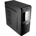 Aerocool V3X Evil Blue Edition Midi-Tower Black,Blue computer case