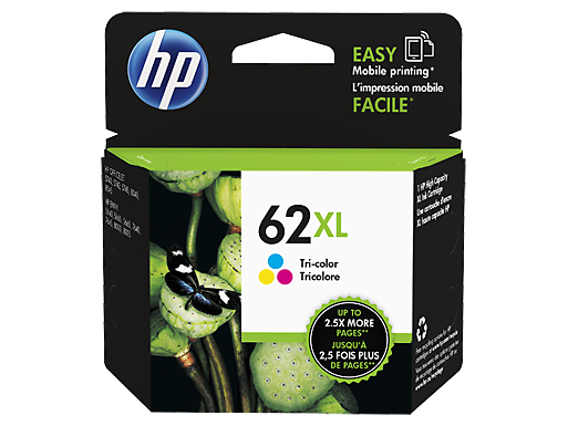 HP 62XL Tri-color Ink Cartridge Original Cian, Magenta, Amarillo