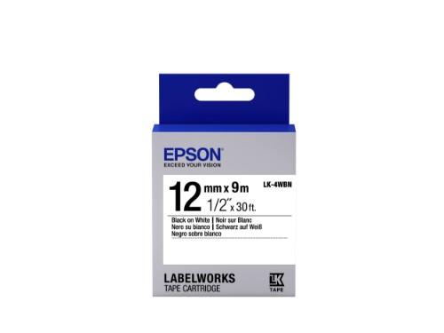 Epson C53S654021 (LK-4WBN) Ribbon, 12mm x 9m