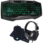 GAMEMAX Raptor Keyboard Mouse Headset Mouse Mat Kit RGB