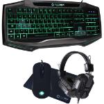 GAMEMAX Raptor Keyboard Mouse Headset Mouse Mat Kit RGB