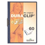 Durable Duraclip 60 report cover Light Blue,Transparent PVC