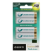 Sony Premium Rechargeable Ni-MH Batteries, Size AA, 4pc blister pack