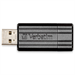 Verbatim PinStripe 128GB USB flash drive USB Type-A 2.0 Black