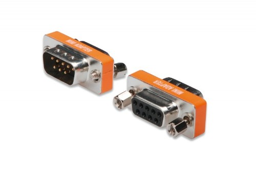 Digitus ZERO MODEM ADAPTER D-SUB9 METAL HOUSING M/F VGA (D-Sub) Orange,Silver